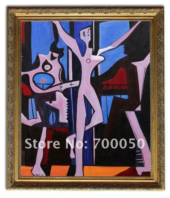 free shipping wooden oil painting frames three dancers picasso art 20x24 - Wholesale Art And Frames