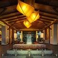 Tecido folha de led lâmpada led luz led e27 ferro chinês. luzes pingente. pingente. pingente de luz para restaurante do hotel loja de salão
