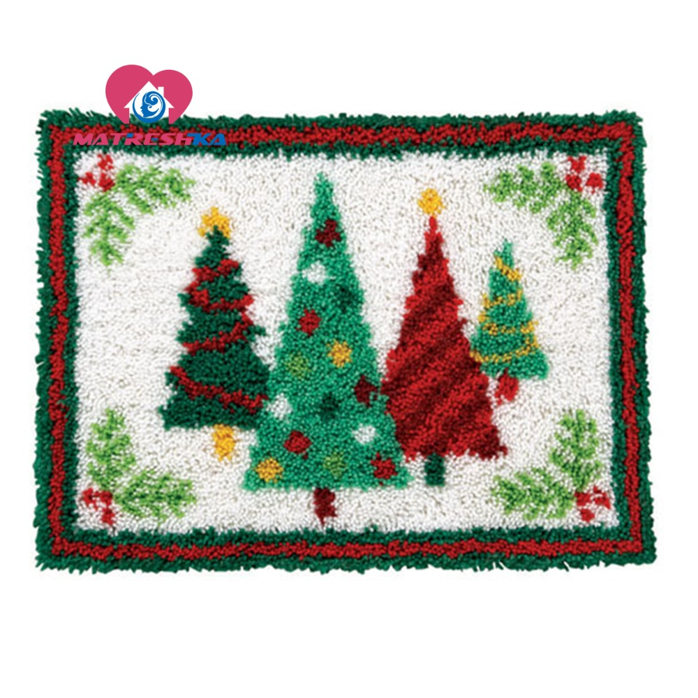 carpet embroidery Christmas tree latch hook rug needlework button package latch hook rug kits diy rugs hook rug 3d carpetcarpet embroidery Christmas tree latch hook rug needlework button package latch hook rug kits diy rugs hook rug 3d carpet