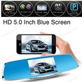 5 Inch Rearview Mirror Novatek Car DVR Dual Lens Registrar Camcorder Loop recording, digital zoom, dual camera, G-Sensor