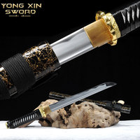 Japan Katanas Blancas High Manganese Steel Samurai Sword Handmade Katana Samurai Tanto Knife Katana Sword Battle Ready