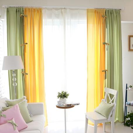 Korean pastoral creative combination living room curtains bedroom ...