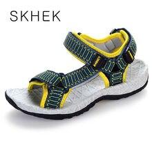 SKHEK marque d'été plage chaussures sandales designer de enfants en bas âge sandales d'été pantoufles 4-12 ans enfants trois couleurs