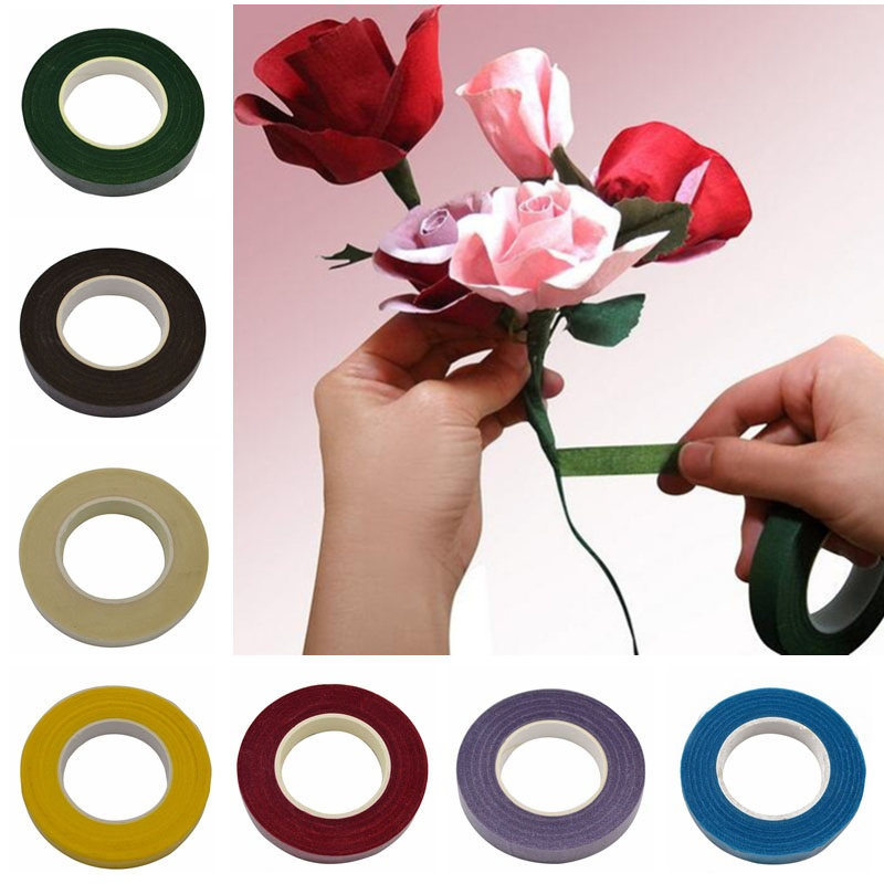 30Yard 12mm Self Adhesive Tape Paper Tape Home Supplies DIY Craft Wedding Decoration Florist Wreath Wrapping Accessories