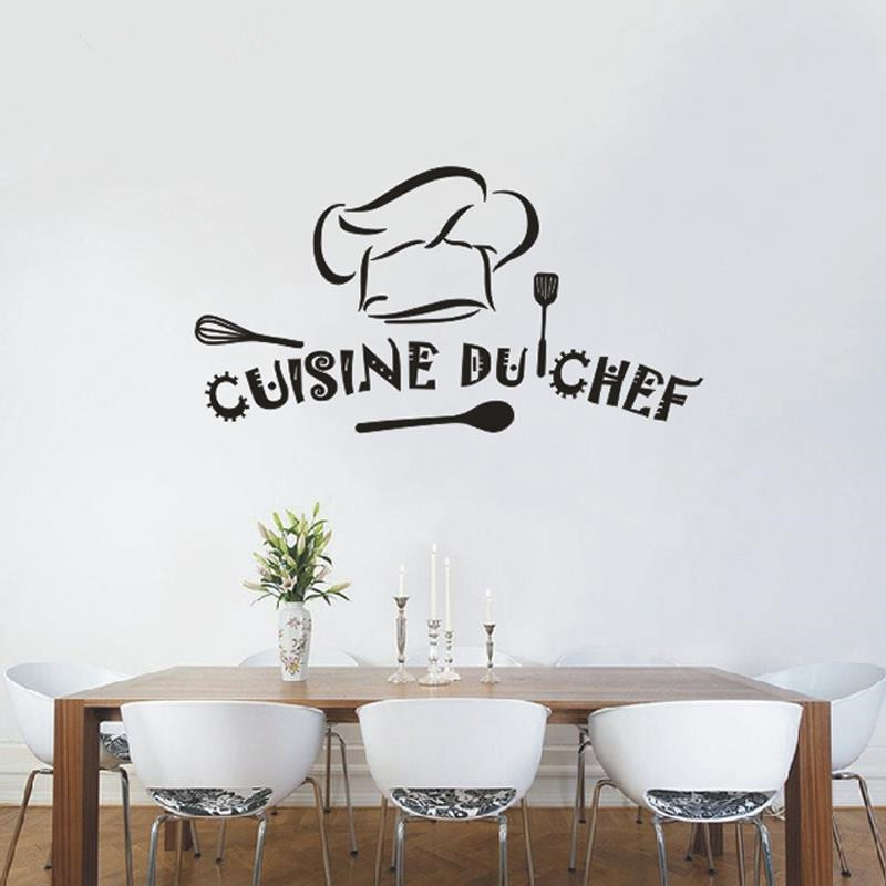 Popular french chef decor buy cheap french chef decor lots for Sticker mural cuisine