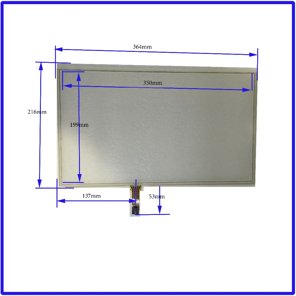 ZhiYuSun 364mm*216mm 15.4 Inch Touch Screen panels 4 wire resistive USB touch panel overlay kit  Free Shipping for cumper new 10 1 inch 4 wire resistive touch screen panel for 10inch b101aw03 235 143mm screen touch panel glass free shipping