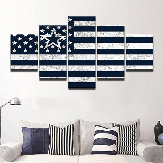 TYG Modern Home Decor Wall Art Canvas Posters 5 Pieces Dallas ...