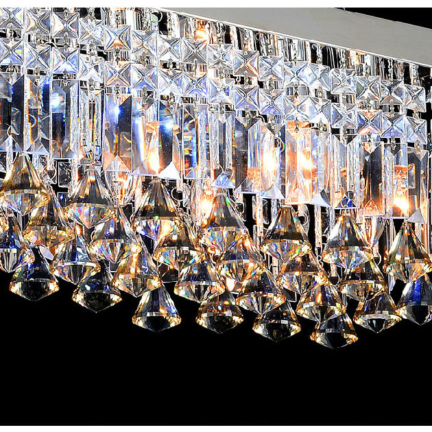 Современные светодиодный хрустальные люстры свечах люстры де cristal лампы для Кухня дома Книги по искусству украшения огни 9151
