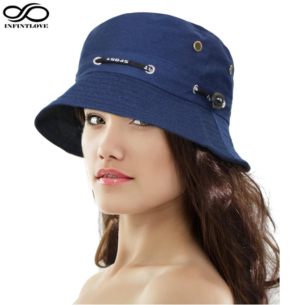 INFINITLOVE للجنسين الرجال النساء أزياء الصيف دلو قبعة مسطحة الصيد صياد قاء زجاجي (حجم مرن: 58 سم)