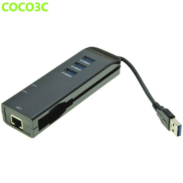 3 Порта USB 3.0 Hub Gigabit Ethernet Адаптер USB для RJ-45 1000 Мбит Lan Сетевой Карты для Macbook Pro 2015 2016