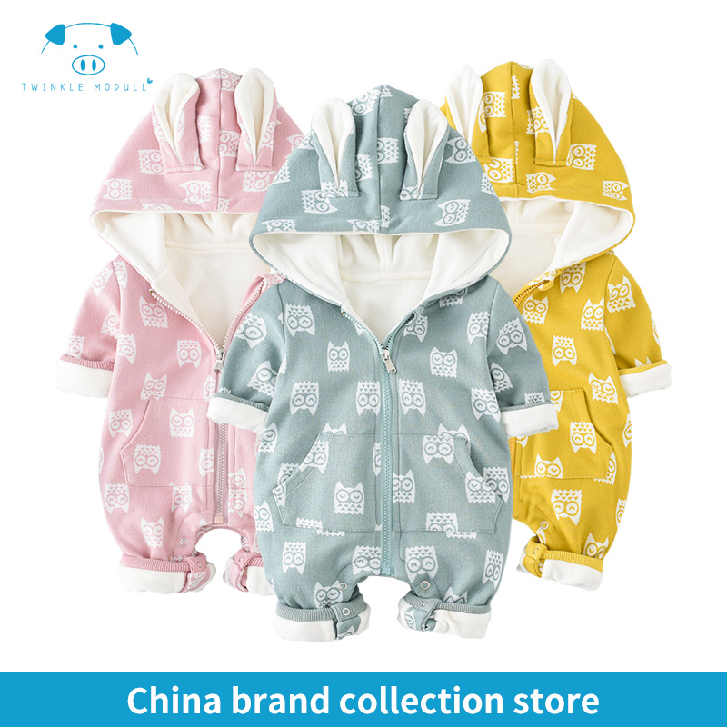 winter rompers newborn boy girl clothes set baby fashion infant baby brand products clothing bebe newborn romper MD170D052 newborn baby clothes winter long sleeves with feet baby boy girl clothes babies overalls ropa de bebe infant product baby romper
