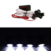 4PCS 12V 4W Strobe Flash Emergency Warning Hawkeye Eagle Eye LED Car Light Lamp Accessories Freeshipping