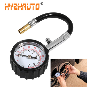 HYZHAUTO 1Pcs Car Tire Pressure Gauge Meter Precision Tyre Pressure Table For Auto Truck Bike Motorcycle Air Pressure Tester