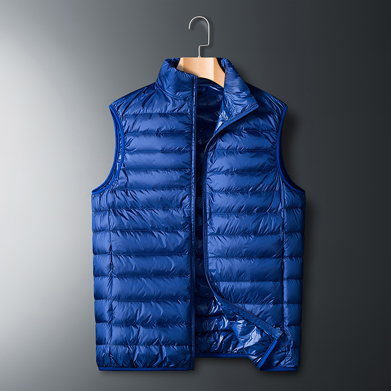 2019 Winter Fashion Brand Sleeveless Ultralight Duck Down Jackets Men's Packable Streetwear Feather Coats Warm Vest Men Clothing