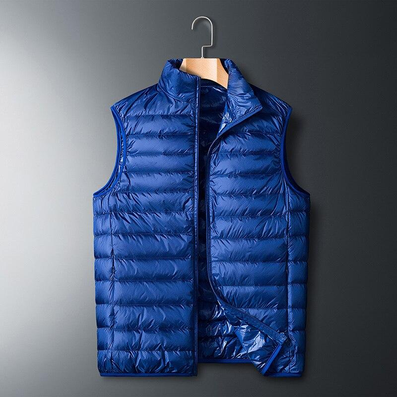 2019 Winter Fashion Brand Sleeveless Ultralight Duck   Down   Jackets Men's Packable Streetwear Feather   Coats   Warm Vest Men Clothing