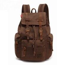 Купить с кэшбэком AUGUR New fashion men's backpack vintage canvas backpack school bags men's travel bags male large capacity travel laptop bag