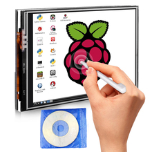 Big sale for Raspberry Pi 3 Model B 3.5 Inches Touch Screen Display Monitor 480×320 LCD Kit with 16GB TF Card