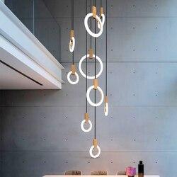 Nowoczesne lampy wiszące LED salon nowość wyposażenie sypialni Nordic wiszące światła do jadalni restauracja światła wiszące w Wiszące lampki od Lampy i oświetlenie na
