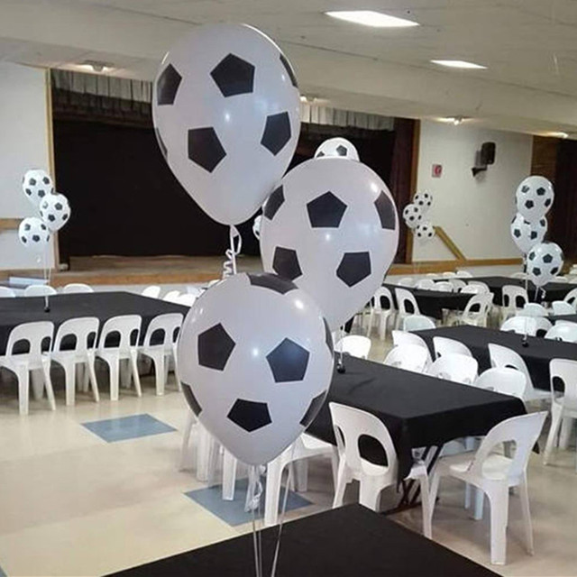 20/50/100PCS 18inch Foil Football Balloons 12inch Latex Balloon Football Cup Soccer Decoration Ball fans Cheering Props Boy Toys