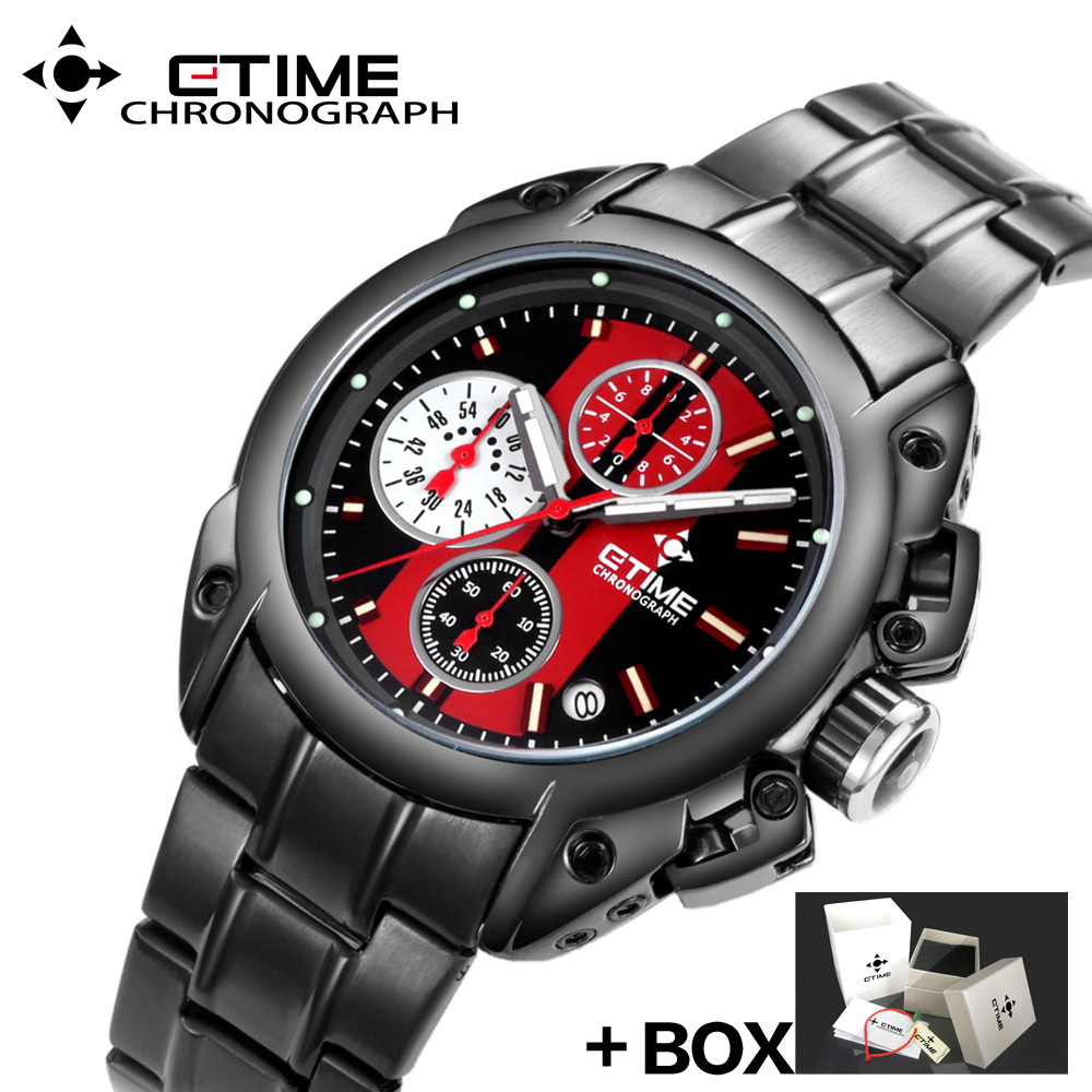 CTIME New Quartz Watches Men Waterproof Fashion men Watch Casual Quartz wristwatches Stainless Steel watchband relogio masculino [zob] 100% brand new original authentic omron omron proximity switch e2e x2mf1 z 2m