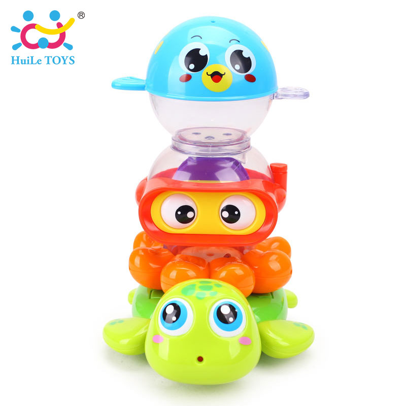 HUILE-TOYS-3112-Baby-Bath-Toy-Pool-Swimming-Toys-Animals-Stacking-Game-Children-Kids-Bathing-Tub-Water-Spraying-Tool-Toy-Gifts-2