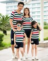 Family Summer Striped clothing Mom and daughter me Dad Son mother matching clothes aile giyim setleri outfits suits familia