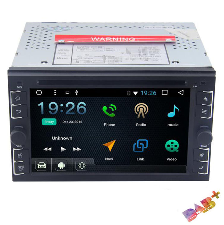 6.2 HD Car Stereo RAM:2GB 2Din Android 6.0 4Core GPS NAV OBD2 WIFI DVD Player