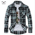Hot 2016 new men's long-sleeved shirt wild plaid shirt shirt casual and comfortable fashion Korean long-sleeved cotton shirts