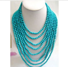 vogue popular Long 100″ Tibet Small 6mm Beads jewelry Necklace