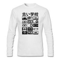 Herren punk rock Anpassen t-shirt mit Alten Schule CassettesFabric vintage beunruhigter blick männer Tops Kurz mann T-Shirt Trendy Heißer