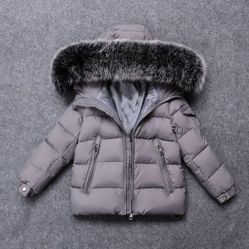 Russia 2018 Children's Down Jacket Baby Clothing Baby Boys Jacket 2018 Winter Jacket Warm Hooded Long Sleeve Jacket for A Boy zip up long sleeve drawstring hooded jacket odm designer