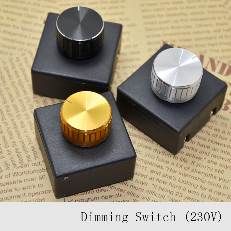 3Pcs 220V 3A Lamp Knob Dimmer Switch Hotel Bedside Table Lamp Wall ...