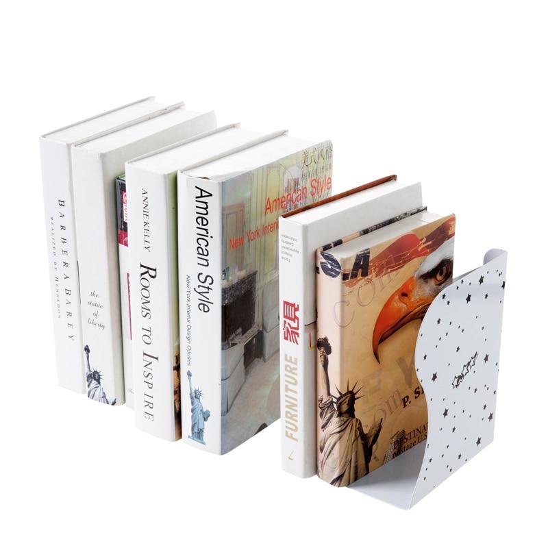 Telescopic folding iron book desk book stand creative office book holder bookcase