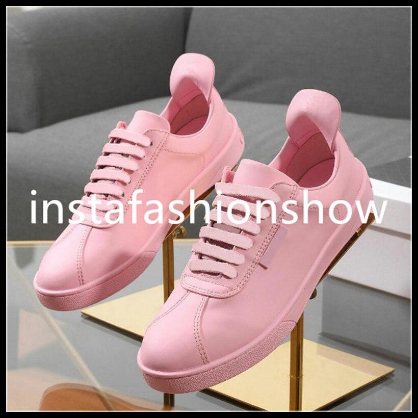 Luxury Designer sneakers Women Trainer Shoes 2019 New lace up Women shoes Leather Desgin tenies sneaker