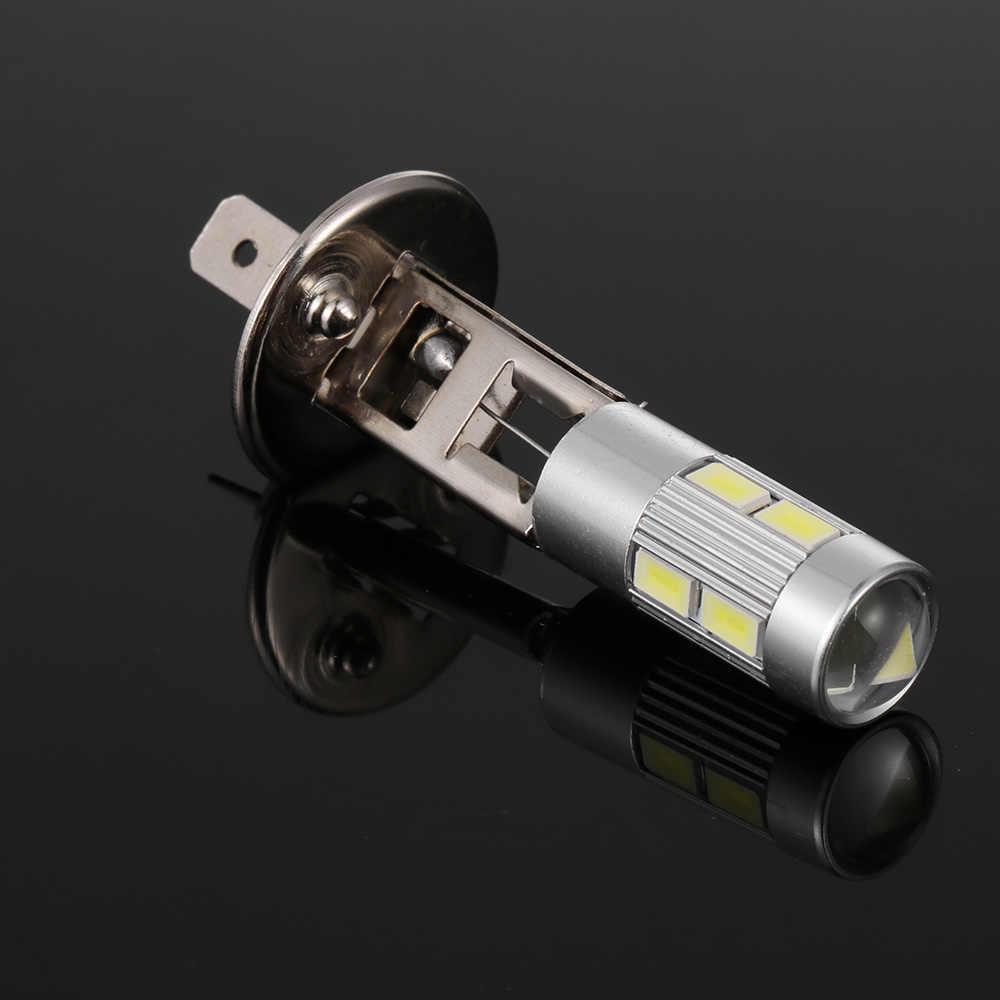 1 قطعة تيار مستمر 12 فولت 5630 مصلحة الارصاد الجوية 10 LED H1 6000K مصباح سيارة الضباب القيادة ضوء لمبة المصباح الأمامي القيادة لمبة عالية الجودة