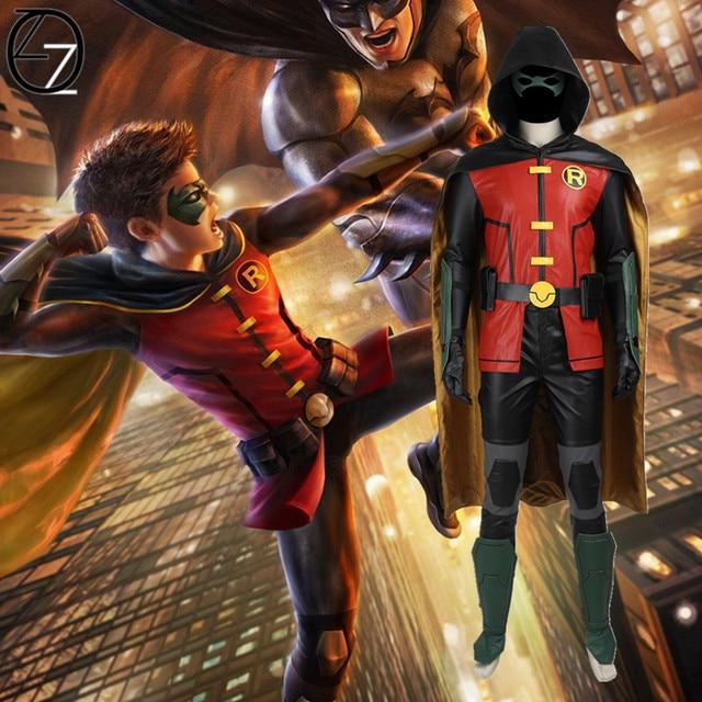 Batman Robin Cosplay Costume Justice League vs. Teen Titans Robin Costume Men Halloween Costume Superhero Costume Customized