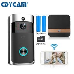 CDYCAM battery wifi doorbell IP Video Intercom WI-FI Video Door Phone Door Bell IR Alarm 720P Wireless Security Camera use 32GB