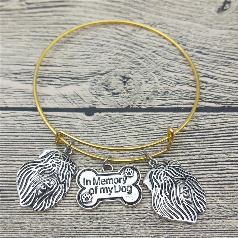 Trendy New Vintage Bouvier des Flandres Bangles Cute Dog Bangles Bracelets Fashion Animal Pet Jewellery