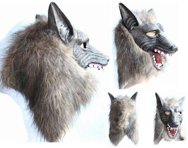Lobo lobisomem Máscara de Halloween Big Bad Wolf Adulto Cabeça Cheia Máscara Máscaras Do Partido Do Traje Acessório