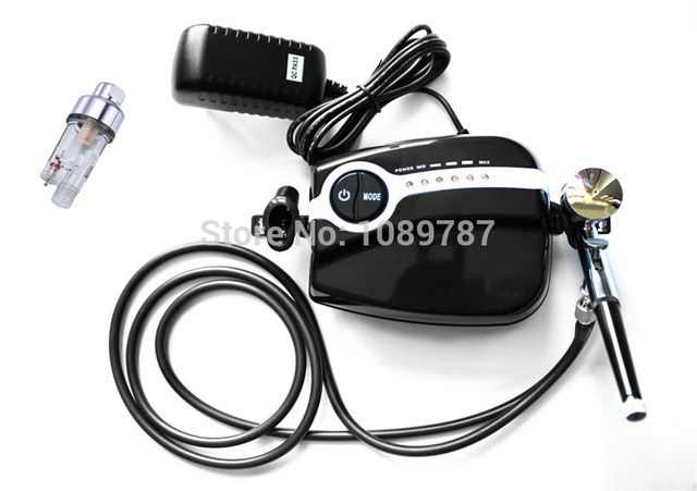 ABEST New Portable Black Airbrush Compressor kit Dual action airbrush makeup tattoo 5 speed With filter AC05B30F