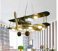 Новое поступление дизайн самолета детская лампа подвесной светильник инновационный осветительный прибор декоративные мультфильм Спальня