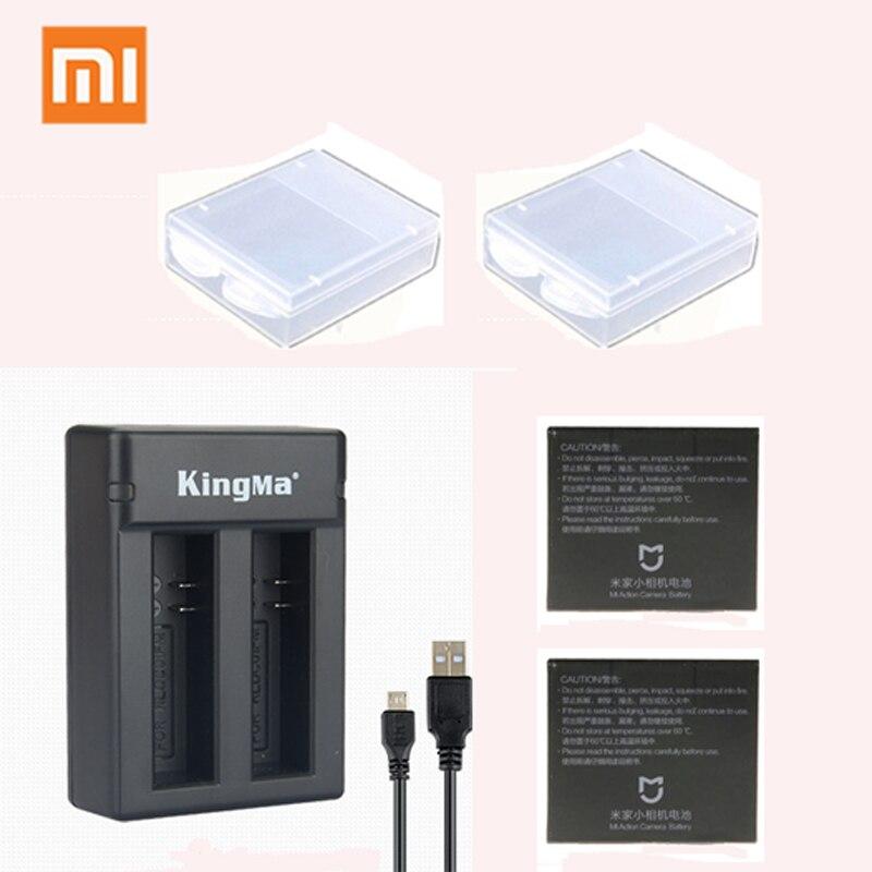 Batterie d'origine Xiaomi Mijia RLDCD1FM avec double chargeur de batterie pour Xiaomi Mijia Action 4 K mini Cam accessoires 1450 mAh