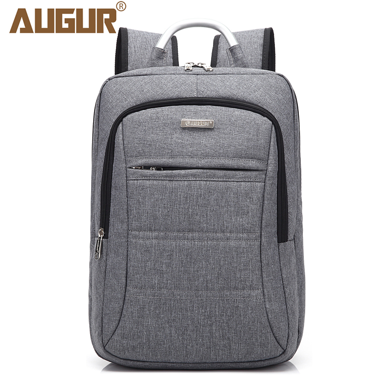 AUGUR Fashion Brand Men Women Backpack 15.6inch Laptop Notebook Men's Travel School College Back pack for Teenager students 14 15 15 6 inch flax linen laptop notebook backpack bags case school backpack for travel shopping climbing men women