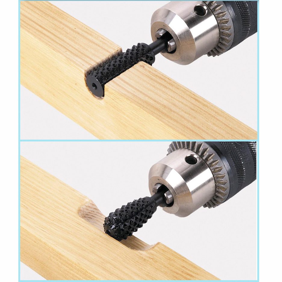 Bois Fraise Outil Carving râpes fichier rotatif bavures Bit Set pour Dremel 5pc