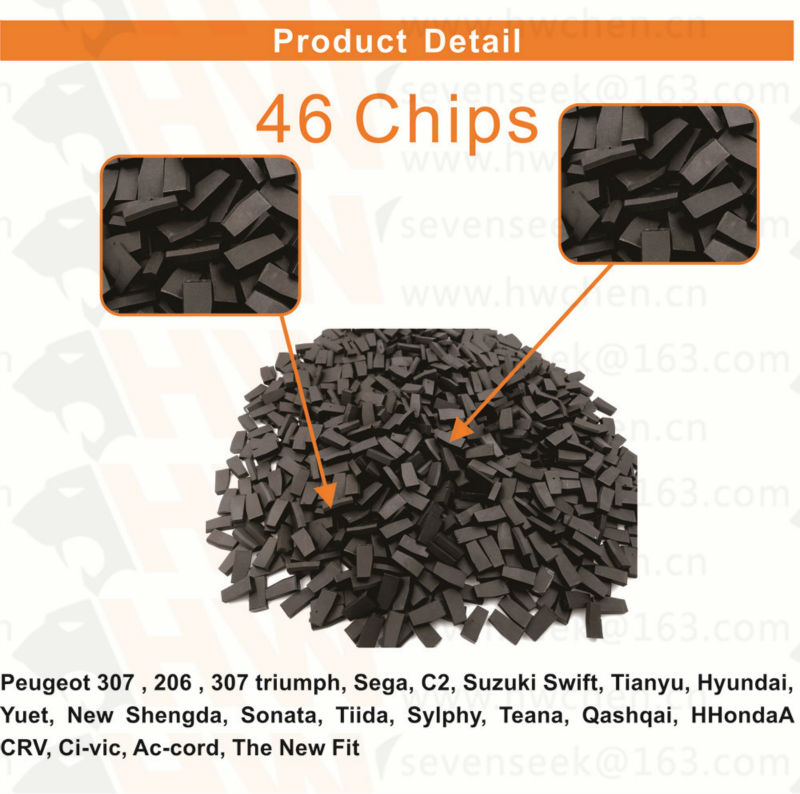 10PCS car key chips pcf7936as ID46 PCF7936 Unlock blank Transponder tango for Honda for nissan for