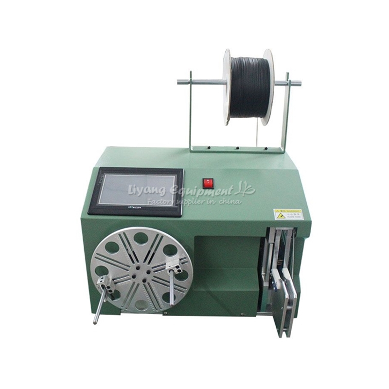 LY 40-80 big touch screen electric cable wire coil winding binding machine 220V 110VLY 40-80 big touch screen electric cable wire coil winding binding machine 220V 110V