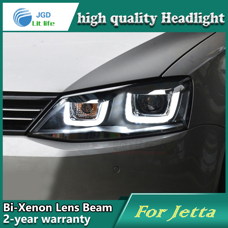 high quality Car Styling Head Lamp case for VW Jetta 2012-2016 LED Headlight DRL Daytime Running Light Bi-Xenon HID Accessories top quality 0258007057 17014 lsu4 2 wide band o2 sensor for 99 05 vw jetta 1 8l l4 021906262b 06b906265d 06b906265m