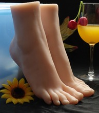 Real doll simulation foot model high simulation feet silk stockings foot new code fetish reverse mould