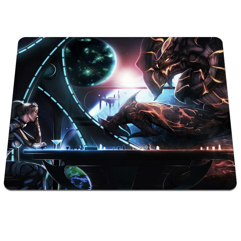 New Fashion Large Gaming Mouse Pad Girl With Monster Printing Durable Rubber Anti-slip Mousepad Computer Gamer Mice Play Mat