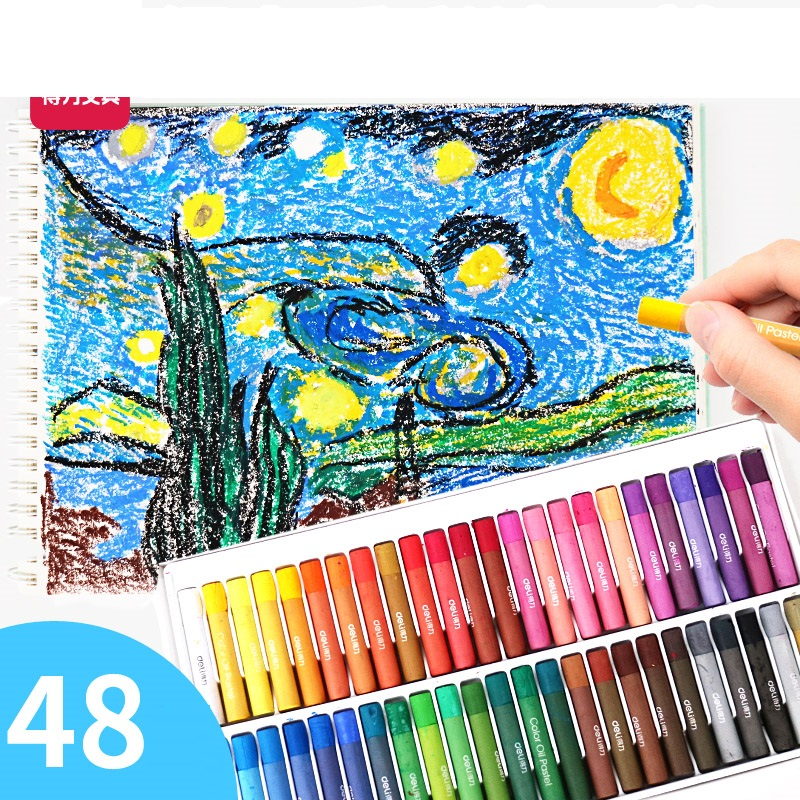 1 Pack 12 24 36 48 Colors Heavy Oil Pastels Caryon For Kids Can Be Washed Off By Water Safety Material Deli 72086 japan sakura sakura 50 36 25 color oil pastels crayon student sakura sakura 36 colors oil pastels watercolor can be washed